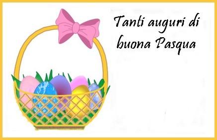biglietto cestino con uova