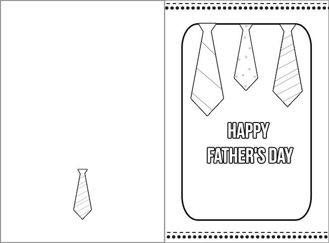 biglietto papà cravatte da colorare mod