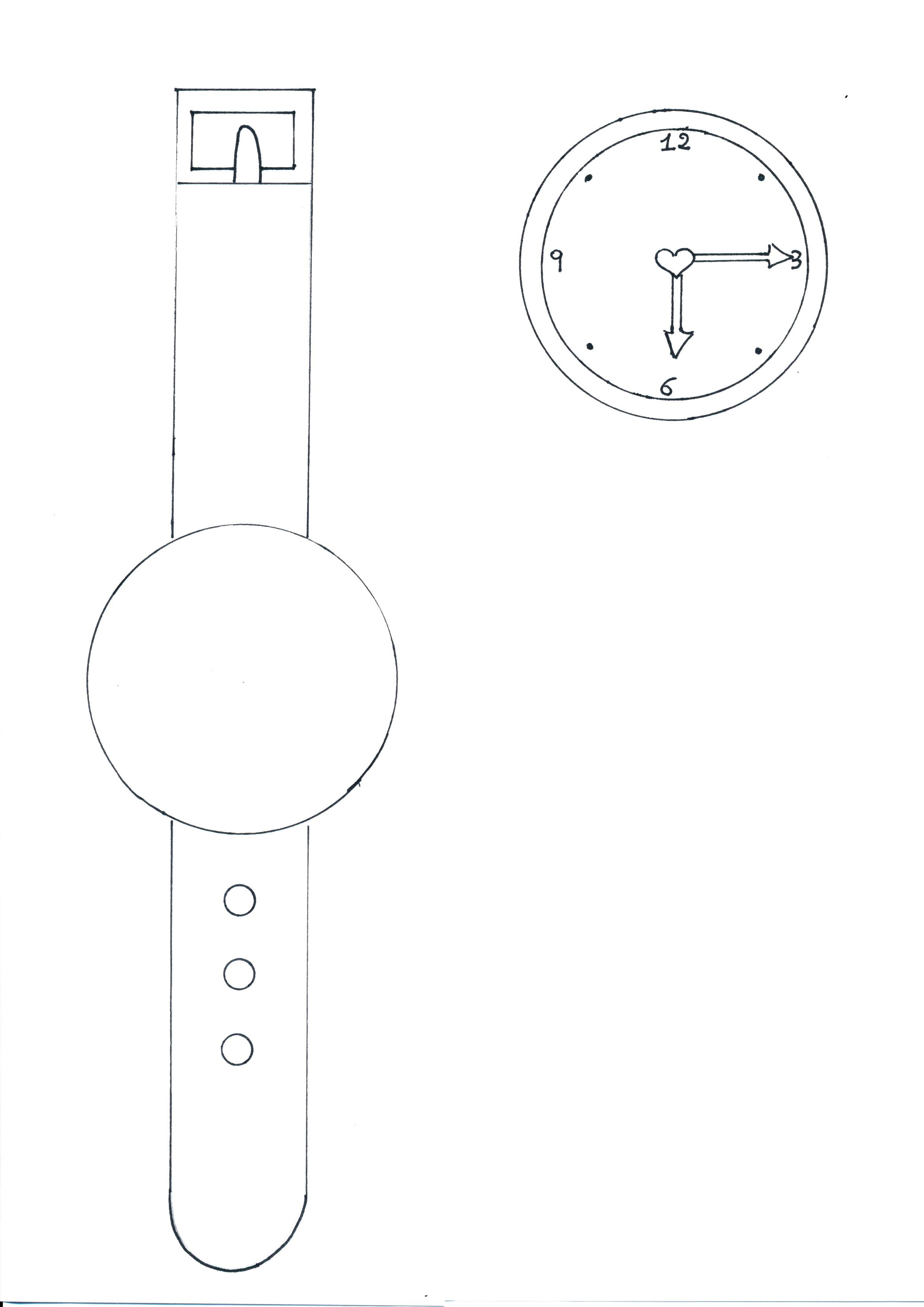 orologio da colorare