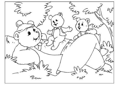 papà orso disegno17 mod
