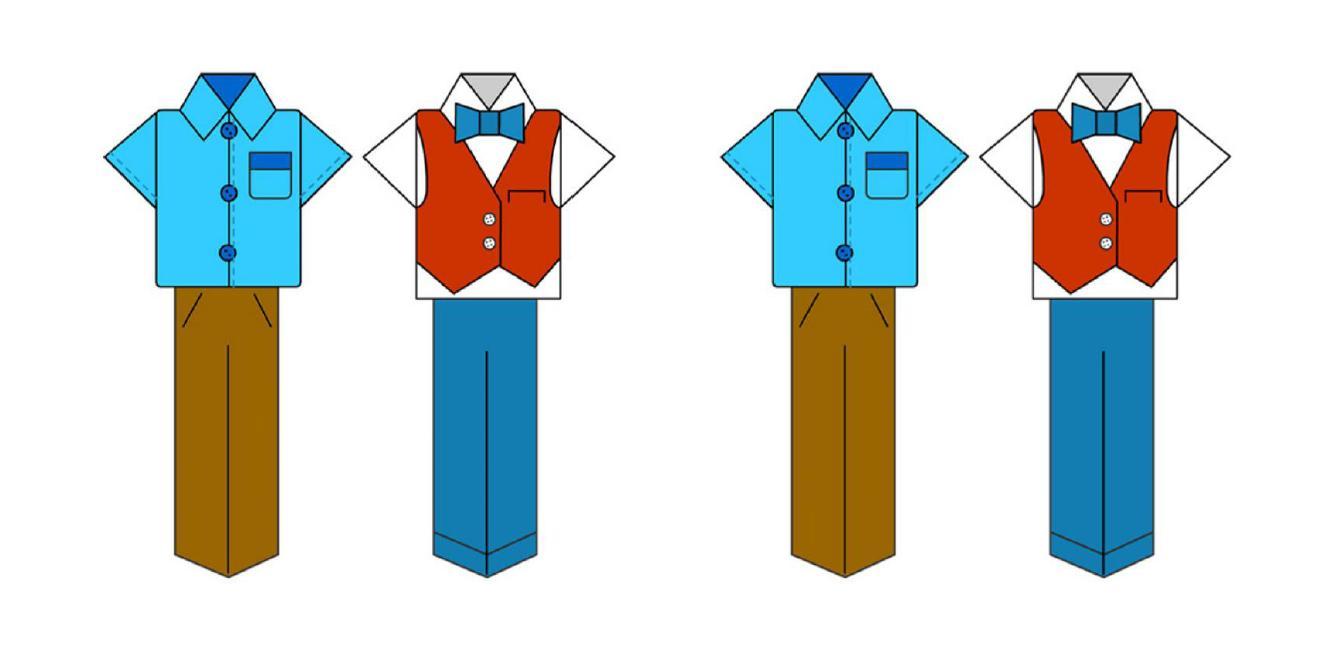 segnalibri vestiti mod
