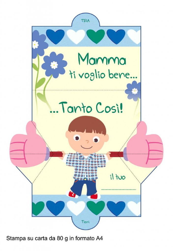 auguri mamma papercraft maschietto