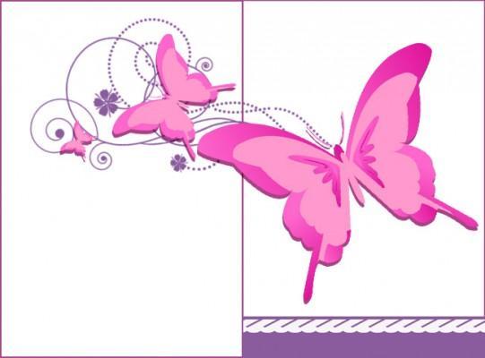 biglietto mamma farfalle rosa