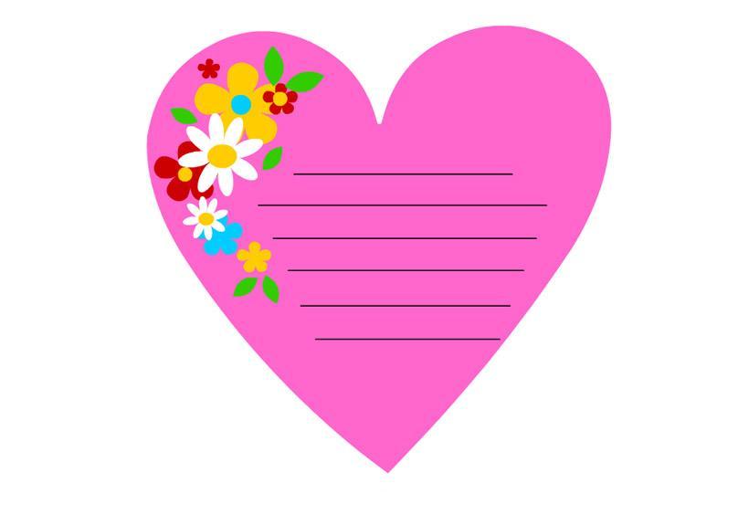 cuore rosa lettera mamma