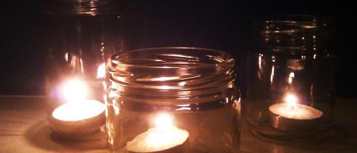 _porta candele in barattolo